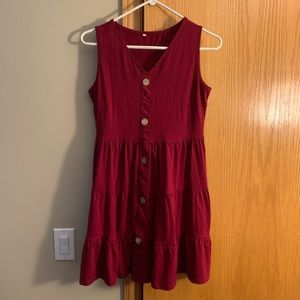 NEW Red Button Dress